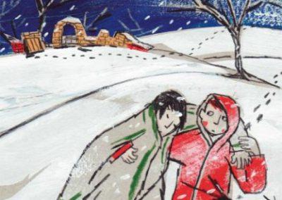 Vermist in de sneeuw